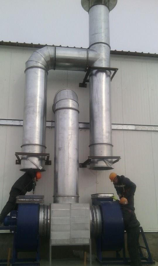 Монтаж систем вентиляции оказываем услуги